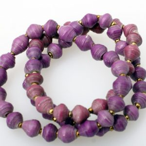 Purple Single Beaded Bracelet