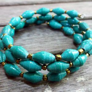 teal bracelet