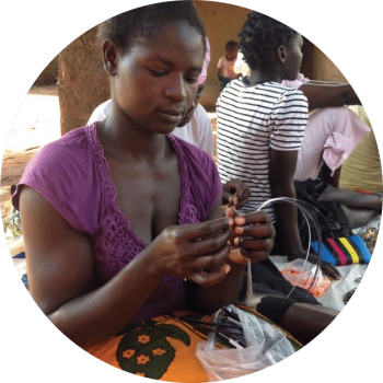 We buy from two artisan groups